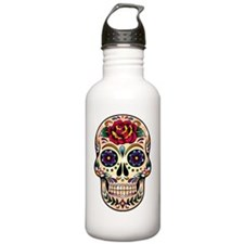 Colorful Retro Floral  Sports Water Bottle