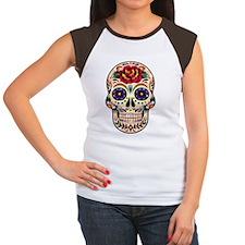 Colorful Retro Floral S Women's Cap Sleeve T-Shirt