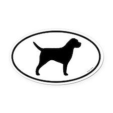 Border Terrier Oval Car Magnet