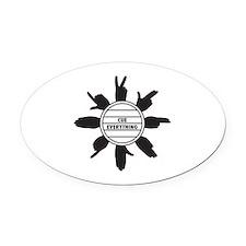 CuedSpeechLogo Oval Car Magnet