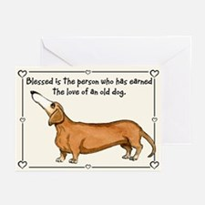 Old Dachshund Greeting Cards (Pk of 10)