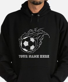 Custom Flaming Soccer Ball Hoodie