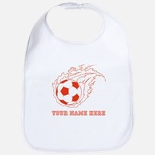 Custom Red Flaming Soccer Ball Bib