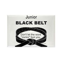 Junior Black Belt Rectangle Magnet (10 pack)