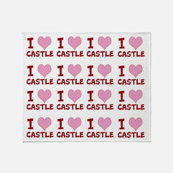 I Heart Castle Throw Blanket