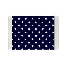 White Stars on Navy Blue Magnets