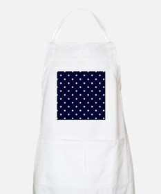 White Stars on Navy Blue Apron