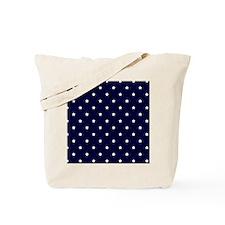 White Stars on Navy Blue Tote Bag