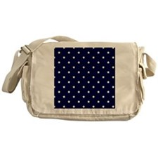 White Stars on Navy Blue Messenger Bag