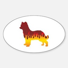 Pyrenean Flames Oval Decal