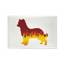 Pyrenean Flames Rectangle Magnet