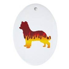 Pyrenean Flames Oval Ornament