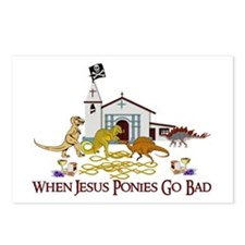 Jesus Ponies Postcards (Package of 8)