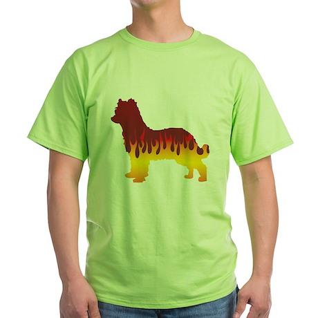Pyrenean Flames Green T-Shirt