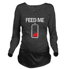 Feed Me Long Sleeve Maternity T-Shirt