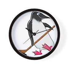 Penguin Hockey Player Wall Clock
