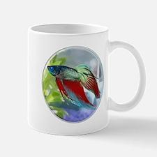Colorful Betta Fish in a Bubble Mugs