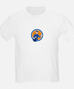 Mailman Postman Delivery Worker Circle Cartoon T-S