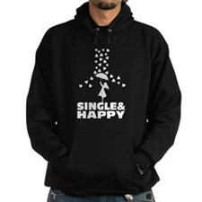 single and happy Hoodie