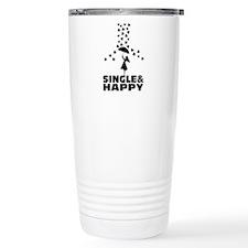 single and happy Travel Mug