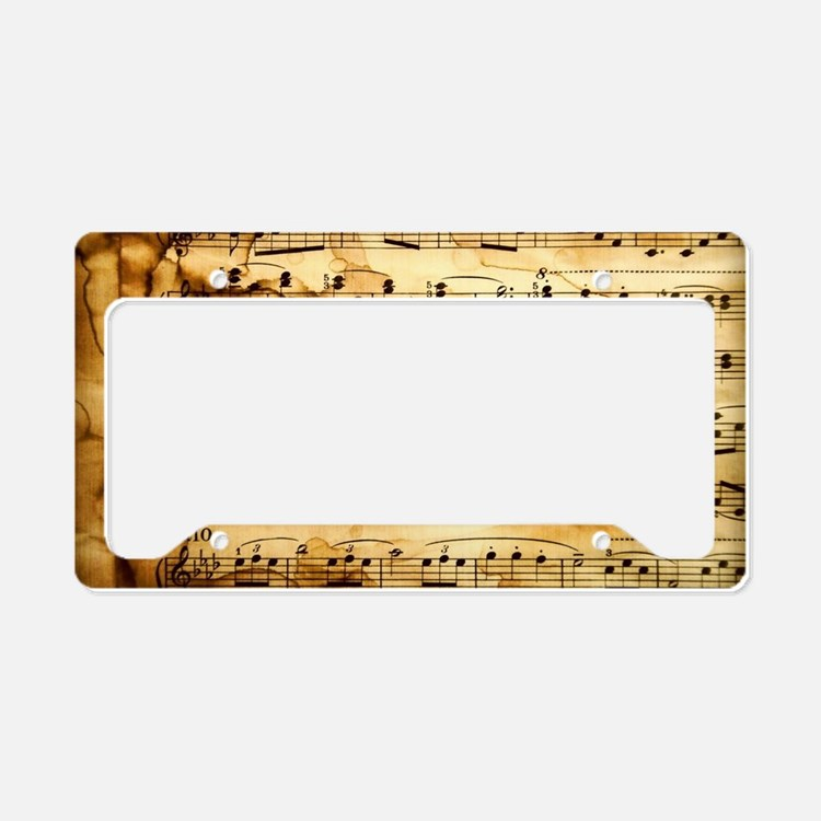 Music Notes Licence Plate Frames | Music Notes License ...