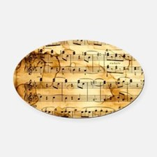 Classical Musical Notes Oval Car Magnet
