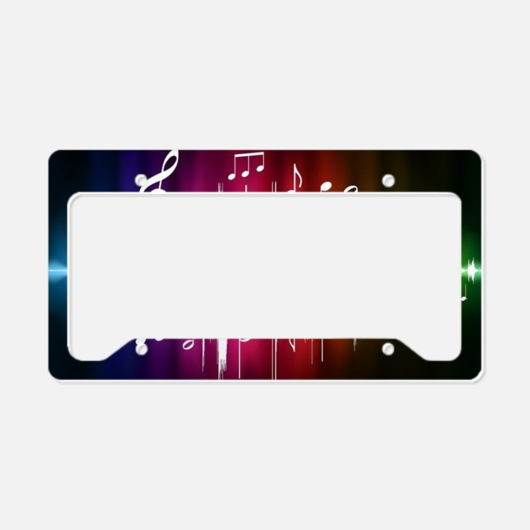 Musical Note License Plate Holder