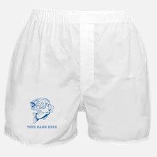 Custom Blue Bass Boxer Shorts