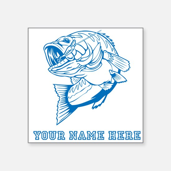 Custom Blue Bass Sticker
