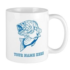 Custom Blue Bass Mugs