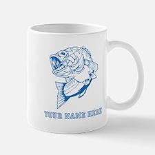 Custom Blue Bass Mugs