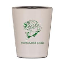 Custom Green Bass Shot Glass