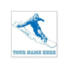 Custom Blue Snowboarder Sticker
