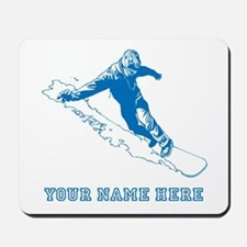 Custom Blue Snowboarder Mousepad