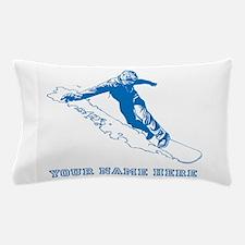 Custom Blue Snowboarder Pillow Case