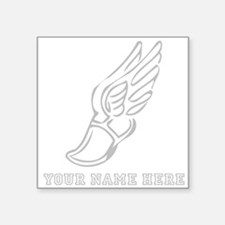 Custom Grey Running Shoe With Wings Sticker