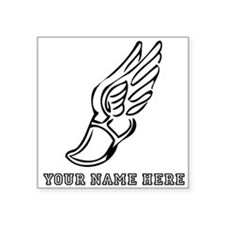 Custom Black Running Shoe With Wings Sticker