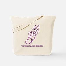 Custom Purple Running Shoe With Wings Tote Bag