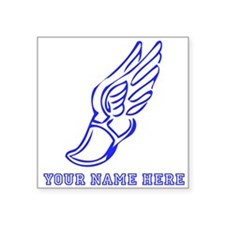 Custom Blue Running Shoe With Wings Sticker