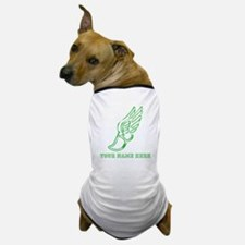 Custom Green Running Shoe With Wings Dog T-Shirt