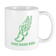 Custom Green Running Shoe With Wings Mugs