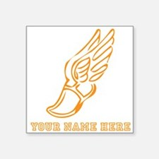 Custom Orange Running Shoe With Wings Sticker