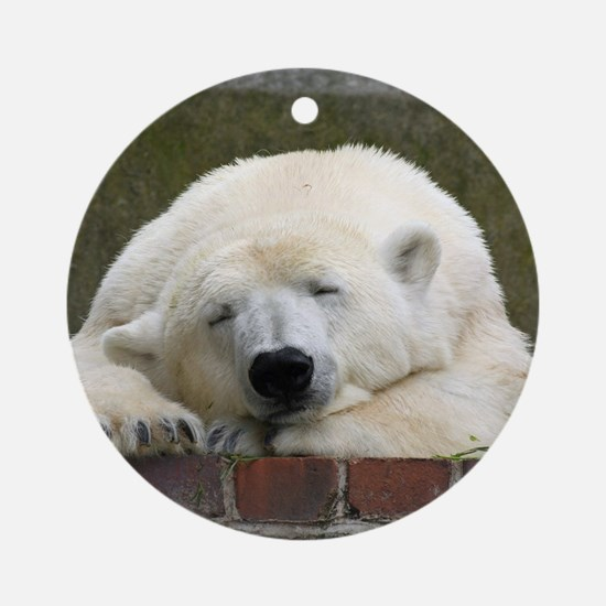 Polar bear 003 Round Ornament