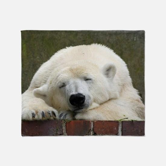 Polar bear 003 Throw Blanket