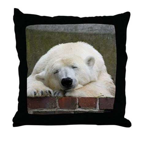 Polar Bear Throw Pillow : Polar bear 003 Throw Pillow by listing-store-112632970
