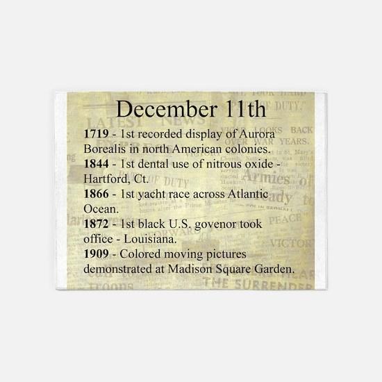 December 11th 5'x7'Area Rug