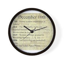 December 10th Wall Clock
