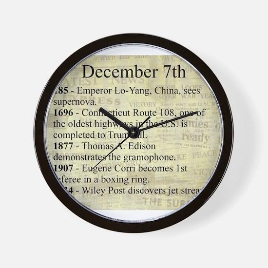 December 7th Wall Clock