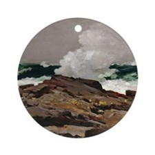 Winslow Homer Eastern Point Round Ornament