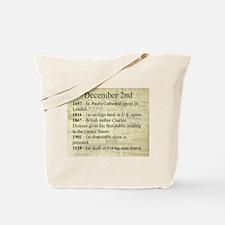 December 2nd Tote Bag